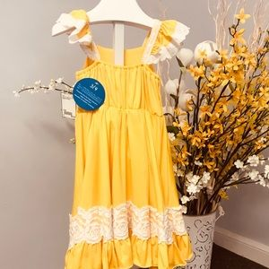 Project Charles dress size 3-4 yellow